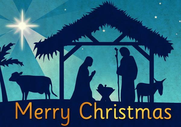 Merry-Christmas nativity